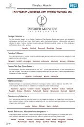 Fireplace Mantels The Premier Collection from Premier Mantles, Inc.
