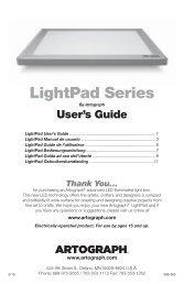 LightPad Guide.indd - Artograph