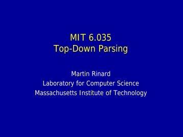 Top-down Parsing (PDF)