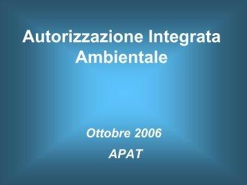Autorizzazioni integrate ambientali (105 Kb )