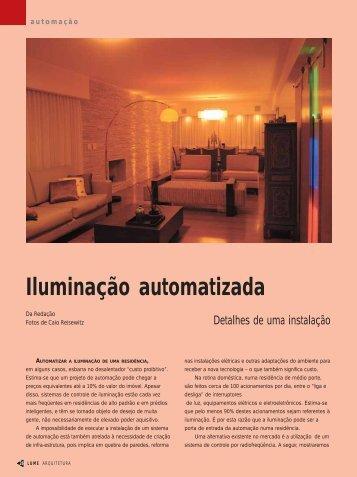 Iluminação automatizada - Lume Arquitetura