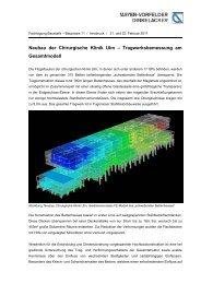 Neubau der Chirurgische Klinik Ulm – Tragwerksbemessung am ...