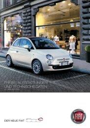 VERSIONEN UND PREISE 500 C - Fiat Group Automobiles Press