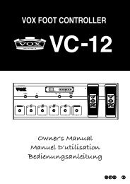 VC-12 Owner's Manual - Vox