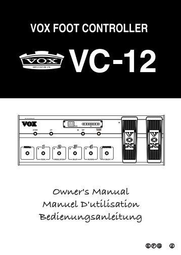VC-12 Owner's Manual - Vox