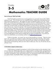 Mathematics TEACHER GUIDE - COSI