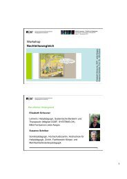 Präsentation Elisabeth Scheuner und Prof. Dr. Susanne Schriber
