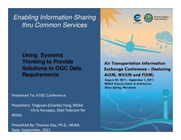 Using Sytems Thinking in Developing WXXM-Based System ... - AiXM