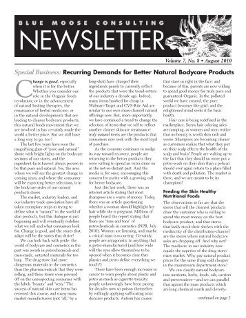 BMC Newsletter, Vol. 7, Issue 8 - August, 2010 - Blue Moose ...