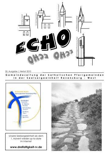 ECHO 35 (Herbst 2010) - Katholische Gesamtkirchengemeinde ...