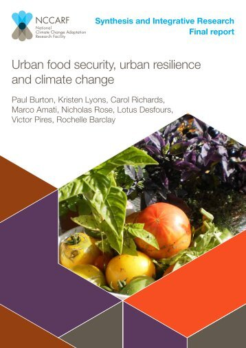 Urban food security, urban resilience and climate change - weADAPT