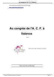 Au congrès de l'A. C. F. à Valence - Paroisse Saint Vincent de l ...