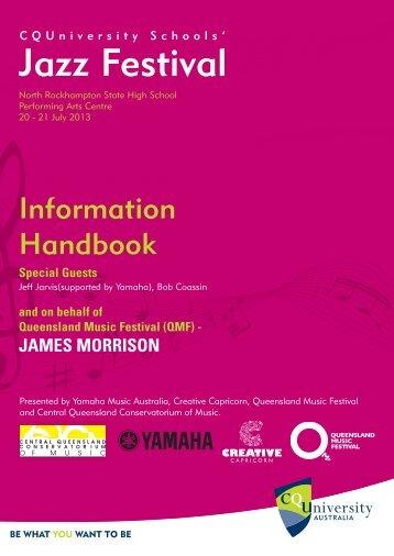 Jazz Festival handbook - Central Queensland University