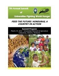 feed the future: honduras, a country in action - Universidad Nacional ...