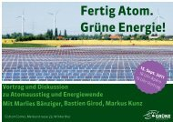 Fertig Atom. Grüne Energie! - Grüne Winterthur - Grüne Kanton Zürich