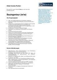 Bauingenieur (m/w) - Uhde Inventa Fischer