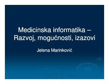 Медицинска информатика - Прво предавање