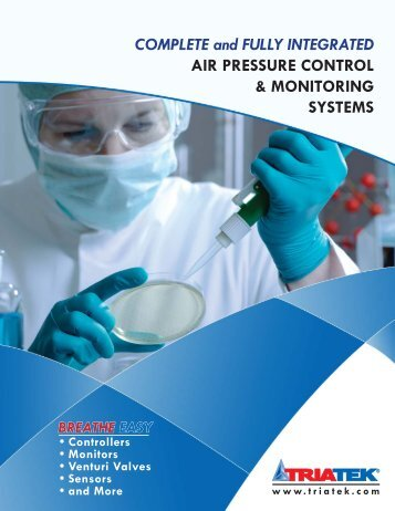 Triatek new hospital and lab brochure - Air Specialty Products