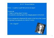 Ch. 12 - Forces & Motion Force --> a push or a pull that acts on an ...