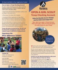 Pasadena Federal Credit Union - Girl Scouts of Greater Los Angeles