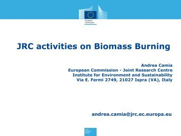 Andrea Camia - JRC activities on biomass burning - IGAC Project