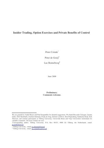 Insider trading exercise of options
