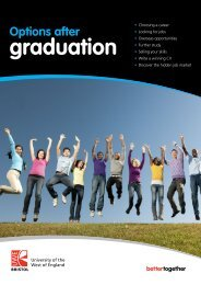 Options after graduation - University of the West of England