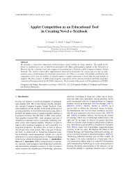 Applet Competition as an Educational Tool in Creating Novel e ...