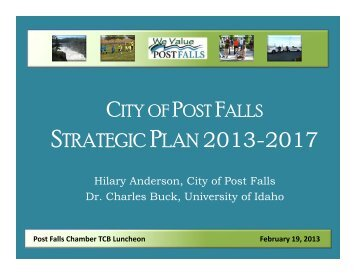 STRATEGIC PLAN 2013-2017 - City of Post Falls