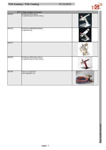 TGK Katalog / TGK Catalog 12.10.2012
