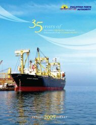 Annual report 2009 - Philippine Ports Authority