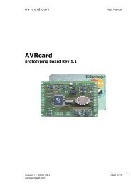 User Manual hk 1.1.DOC - AVRcard