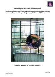 Rapport fra studietur til Japan (feb. 2008) (pdf 2 MB) - Aarhus.dk