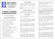 3ª mostra - concorso di modellismo statico - Le Gallerie di ...