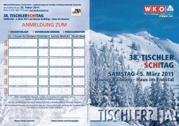 Einladung Skitag - Steirische Tischler