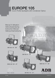 EUROPE 105 - ADB Lighting Technologies