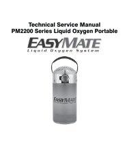 Technical Service Manual PM2200 Series Liquid Oxygen Portable