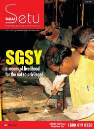 a means of livelihood for the not so privileged a means of ... - Sahaj