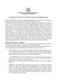 il prosecco doc di conegliano valdobbiadene - TrevisoSystem-OnLine
