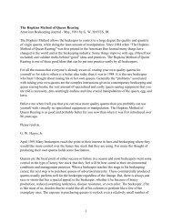 1 The Hopkins Method of Queen Rearing American ... - BioBees