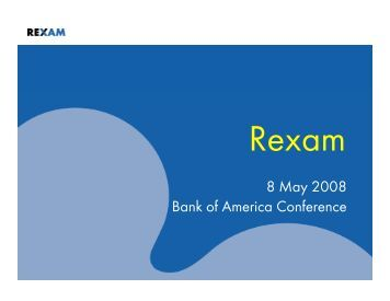 8 May 2008 Bank of America Conference