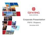 Corporate Presentation Morgan Stanley IF 2010 - Singapore