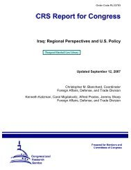 Iraq: Regional Perspectives and U.S. Policy