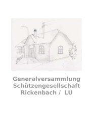 Generalversammlung Schützengesellschaft ... - SG Rickenbach