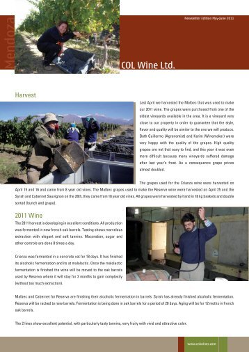Newsletter Edition May-June 2011 - Colwine.com