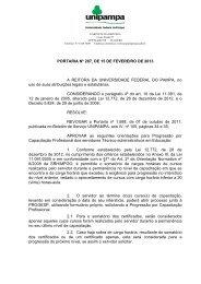 Portaria UNIPAMPA nº 207, de 15 de fevereiro de 2013 - Reitoria ...