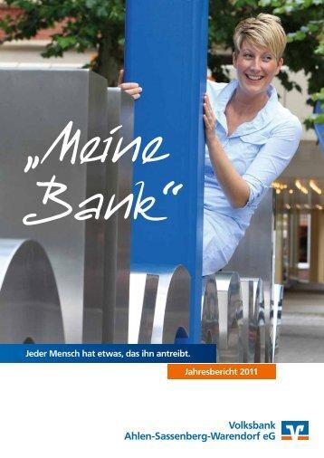 Jahresbericht 2011 - Volksbank Ahlen-Sassenberg-Warendorf eG