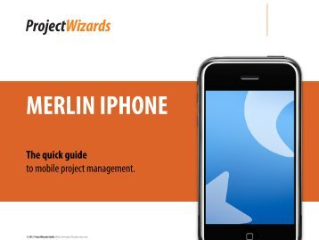 MERLIN IPHONE The quick guide - ProjectWizards