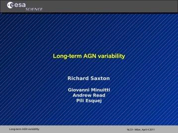 Long-term AGN variability