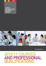 2010/11 courses and professional qualifications. - Jersey ...